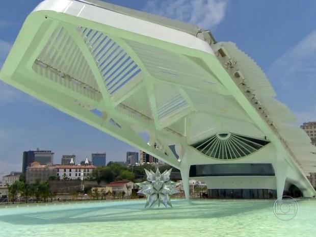Museu do Amanhã compõe o novo cenário da Praça Mauá, que foi toda revitalizada (Foto: Reprodução / Globo)