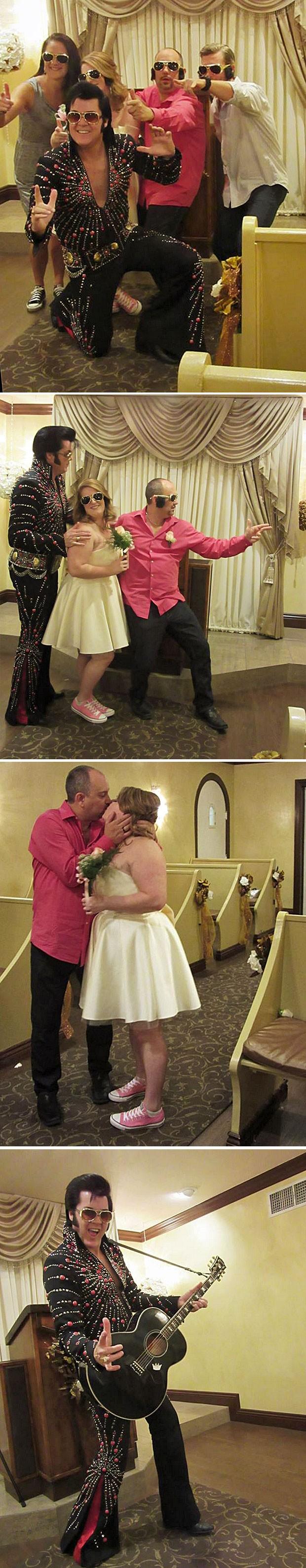Casamento tem o 'Rei do Rock' como 'sacerdote' (Foto: Flávia Mantovani/G1)