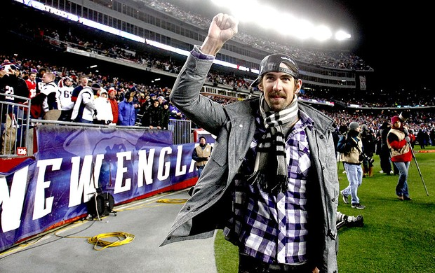 ex-nadador Michael Phelps na partida da NFL entre Patriots e Baltimore (Foto: Getty Images)