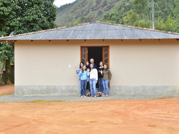 Casa da família Lotério, em Santa Leopoldina (Foto: Guilherme Ferrari/ G1)