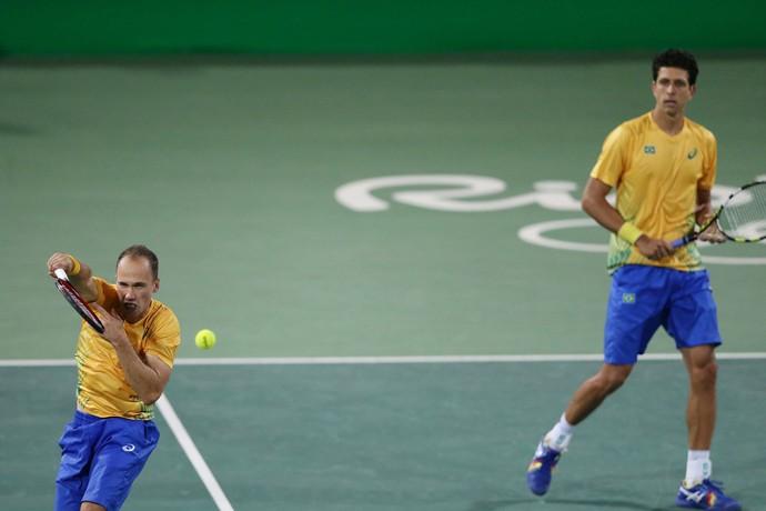 Bruno Soares e Marcelo Melo (Foto: Cristiano Andujar/CBT)