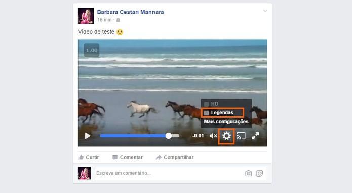 Desative a exibição de legendas no vídeo do Facebook (Foto: Reprodução/Barbara Mannara)