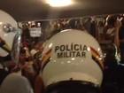Manifestantes deixam entrada do Congresso após 6 horas de protesto