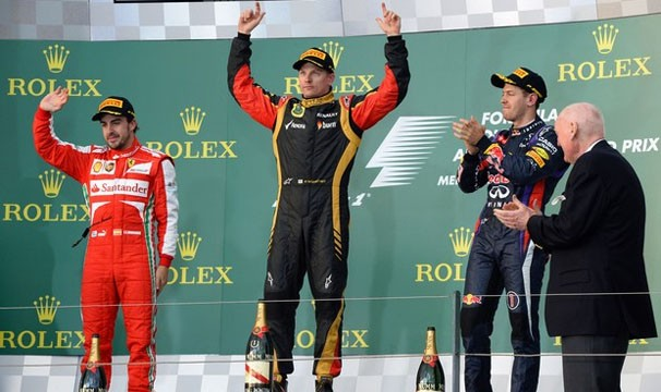 Kimi Raikkonen foi o grande campeão do GP da Austrália (Foto: AFP/Reprodução: Globoesporte.com)