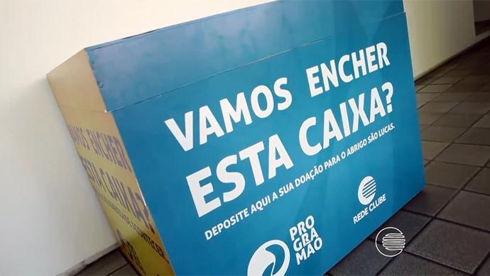 Programão Solidário tem postos de arrecadação espalhados pela capital (Foto: Reprodução/Rede Clube)