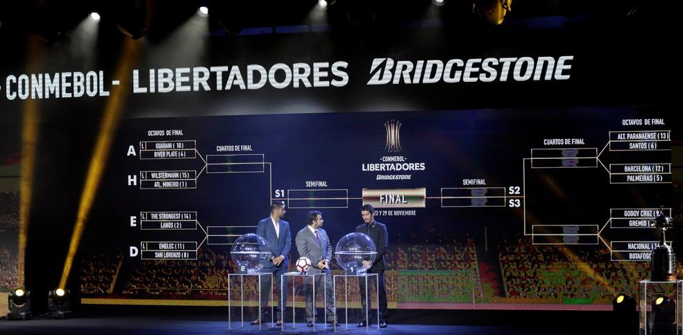 Cruzamento da Libertadores até a final (Foto: Jorge Adorno/Reuters)