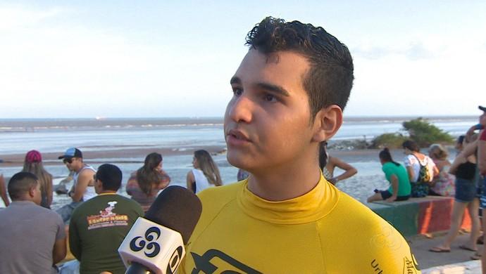 Lídio Júnior, vencedor da II Travesia do Kitesurfe (Foto: Reprodução/Rede Amazônica no Amapá)