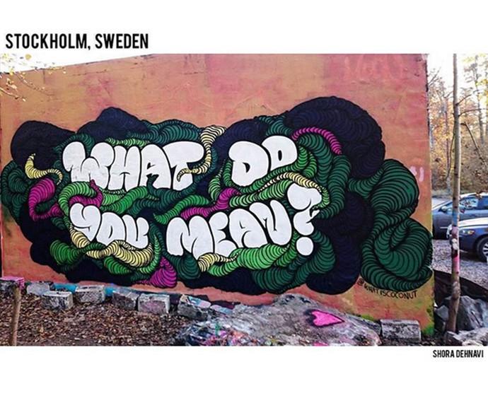 Justin Bieber divulgou a tracklist do novo álbum em grafites espalhados pelo mundo (Foto: Reprodução)