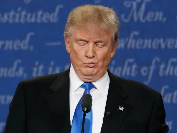 Donald Trump durante o primeiro debate eleitoral com Hillary Clinton (Foto: Lucas Jackson/Reuters)