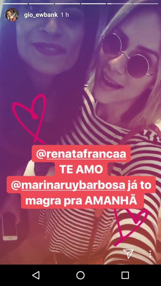 Giovanna Ewbank e Renata França (Foto: Reprodução)