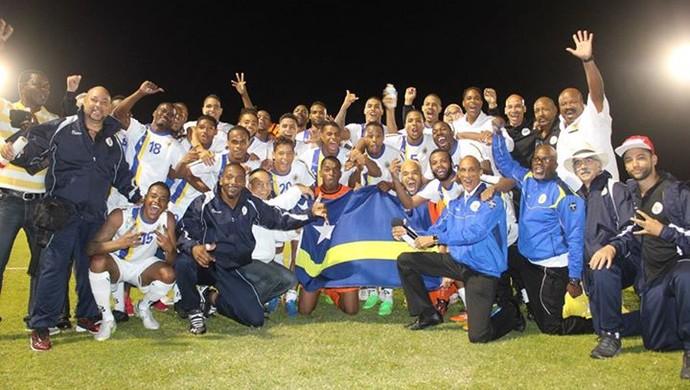 Seleção de Curaçao (Foto: Reprodução / Facebook)