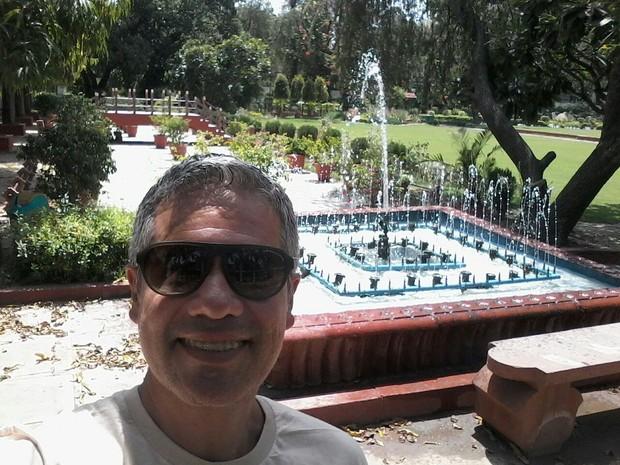 Sérgio Sepúlveda viajou ao Nepal na companhia do amigo Juba Tenório, que está sumido (Foto: Sérgio Sepúlveda/Arquivo pessoal)