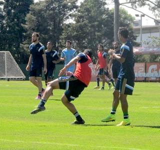 treino Palmeiras rachão jogadores (Foto: Diego Ribeiro)