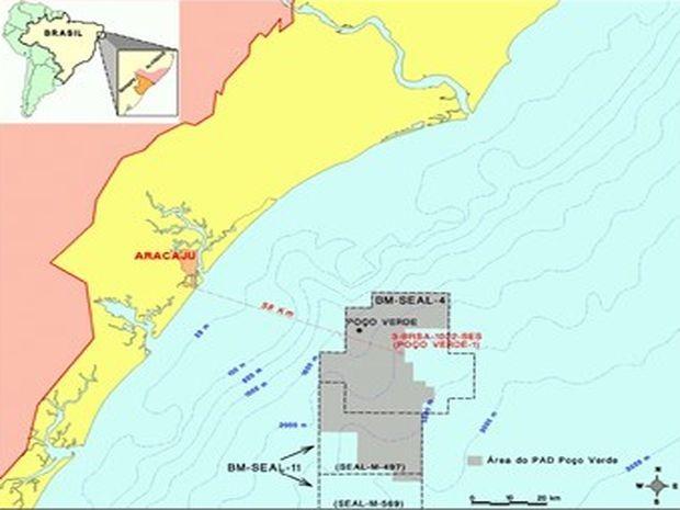 Novo poço para exploração de gás fica a 58km de Aracaju (Foto: Agência Petrobras/Divulgação)