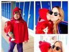 Rafaella Justus enche a mãe, Ticiane Pinheiro, de beijos