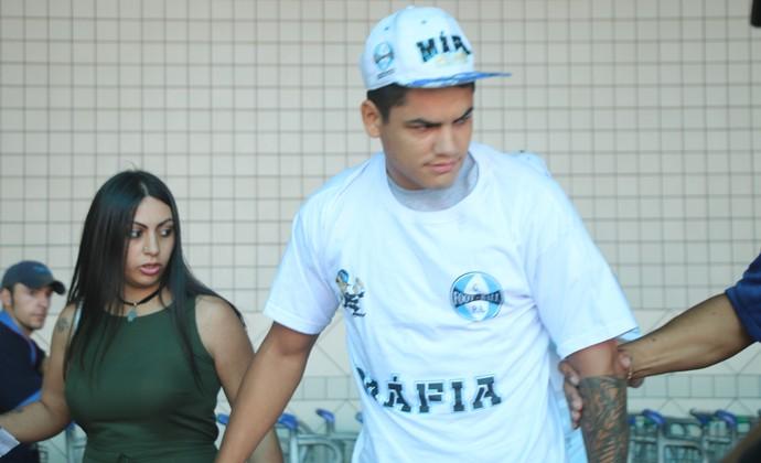 Torito Gabriel Fernández Grêmio (Foto: Eduardo Moura/GloboEsporte.com)