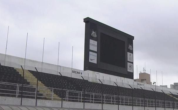 O jogo da decisão será transmitido na Vila Belmiro  (Foto: Reprodução/TV Tribuna)