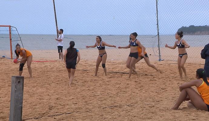 handebol de areia, seleção brasileira feminina, João Pessoa, Praia do Cabo Branco (Foto: Reprodução / TV Cabo Branco)