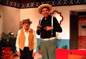 Roberto Gomez Bolaños e Rubén Aguirre Fuentes (Foto: Twitter / Reprodução)