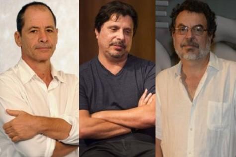 Guel Arraes, Mauro Wilson e Jorge Furtado (Foto: TV Globo)