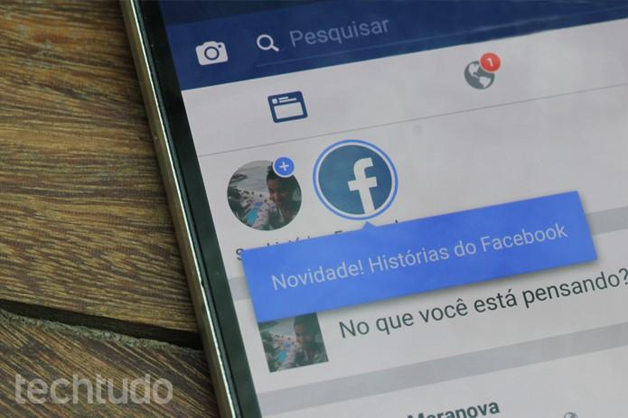 Histórias de Facebook com uma marca (Foto: Carolina Ochsendorf / TechTudo)