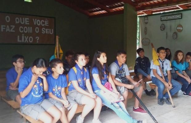 Jovens escoteiros participam de desafios no Zoológico de Goiânia Goiás (Foto: André Luiz Silva/Arquivo Pessoal)