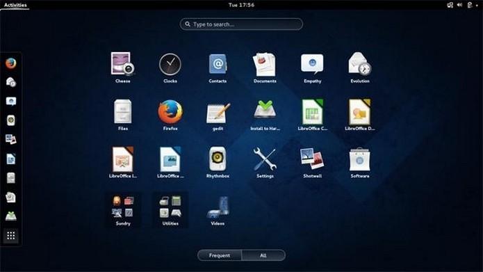 Área de trabalho da distribuição do Linux Fedora (Foto: Divulgação/Fedora)