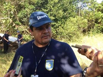 Major Wellington da Silva, do Cenipa, disse que não há prazo para a investigação ser concluída (Foto: Anna Tiago/G1)