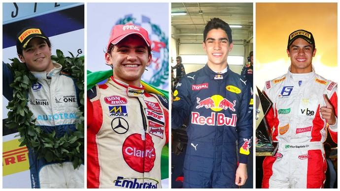 Pedro Piquet, Pietro Fittipaldi, Sergio Sette Câmara e Vitor Baptista são as promessas brasileiras na base (Foto: Divulgação)