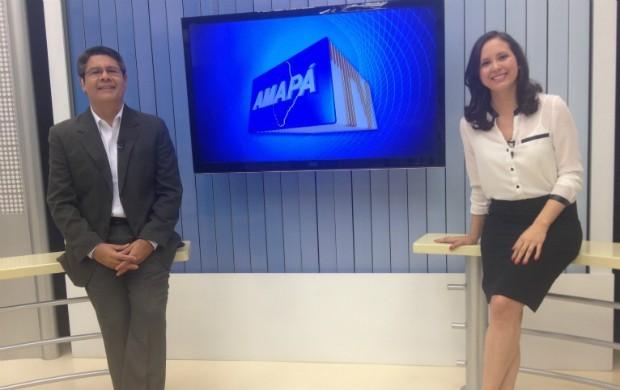 Aline Ferreira e Seles Nafes vão voltar appresentar juntos o Amapá TV (Foto: Rodrigo Sales)