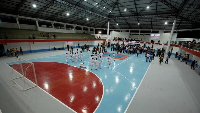 Ginásio é a primeira fase de um grande complexo esportivo (Foto: Sidney Oliveira/Agência Pará)