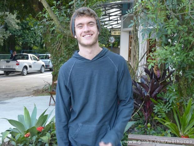 Colírio!!! Não dá pra resistir a um sorriso deste! Awn!!!! (Foto: Malhação/TV Globo)