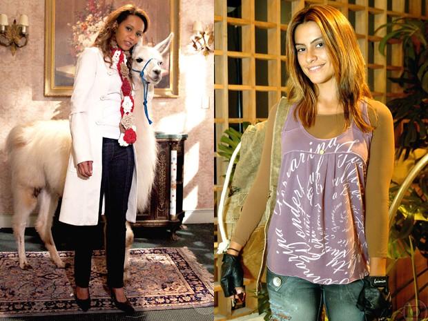 Ellen era a própria patricinha, enquanto Letícia adotava um estilo mais básico (Foto: Divulgação/Gshow/TV Globo)