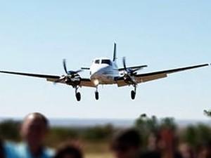 Aeronave modelo King Air, prefixo ATY, desapeceu neste sábado (20) (Foto: Assessoria de imprensa)