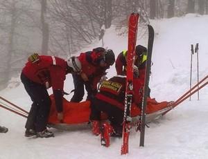 Schumacher, suposto resgate (Foto: Reprodução / Twitter)