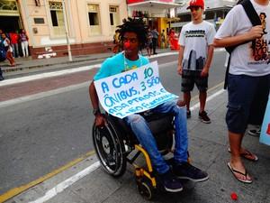 Luiz Cláudio Ribeiro, estudante de 19 anos  (Foto: Priscilla Alves/ G1)