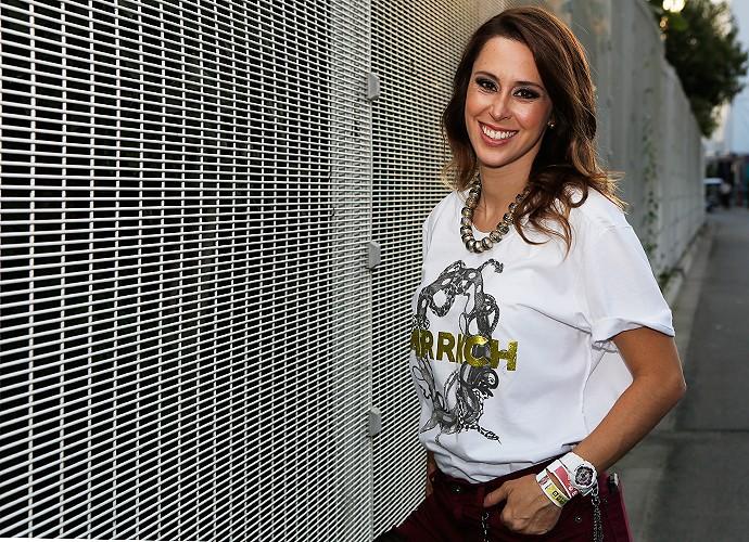 Dani Monteiro chega para o primeiro dia de Rock in Rio (Foto: Fábio Rocha / Gshow)