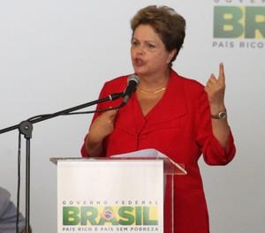 Discurso presidente Dilma Roussef São José dos Campos (Foto: Carlos Santos)