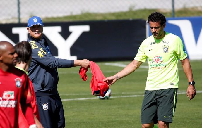 Luiz Felipe Scolai Felipão fred seleção brasileira (Foto: Custodio Coimbra/Agência Globo)