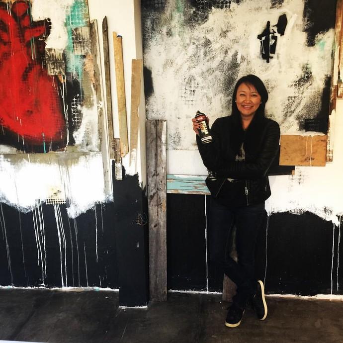 """""""Tenho muita influência da arte urbana"""", revela a artista (Foto: arquivo pessoal)"""