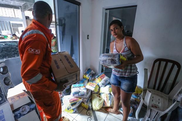 Donativos de Rafa e Pipo Marques para as vítimas da enchente de Salvador (Foto: Divulgação)