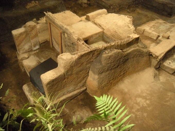 Uma das casas escavadas pelos arqueólogos em Ceren  (Foto: University of Colorado)