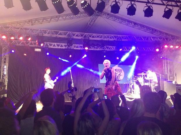 Brothers Of Brazil se apresentou no palco do camarote, no Planeta Atlântida (Foto: Caetanno Freitas/G1)