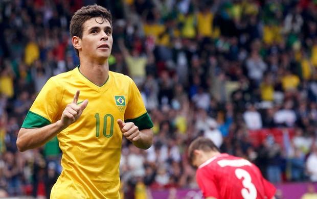 OScar brasil gol bielorrussia futebol londres 2012 (Foto: Agência Reuters)