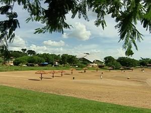 Ações querem reduzir a frequência de crianças e adolescentes no Parque da Orla Fluvial (Foto: Reprodução/ TV Fronteira)