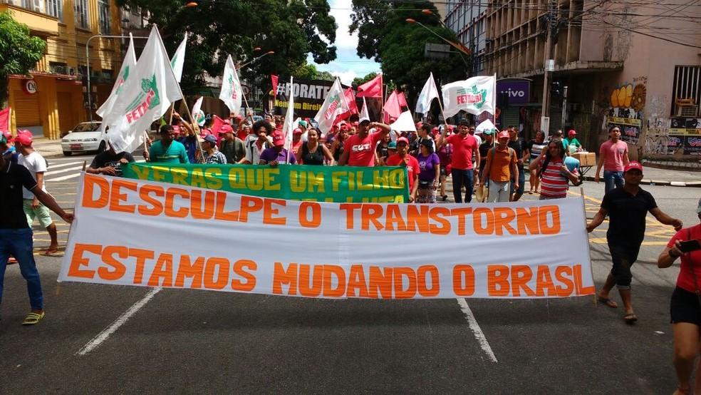 Dia do trabalhador belém CUT (Foto: Arthur Sobral/G1)