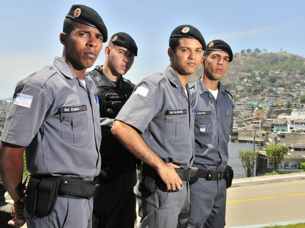 Quatro amigos de infância realizam sonho de serem policiais no Espírito Santo (Foto: Marcelo Pereira/ Leitor A Gazeta)