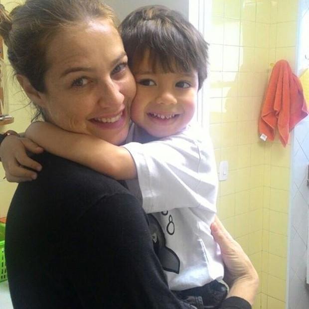 Luana Piovani com o filho (Foto: Reprodução/ Instagram)