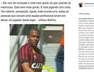 Walter Instagra Atlético-PR desabafo (Foto: Reprodução/ Instagram)