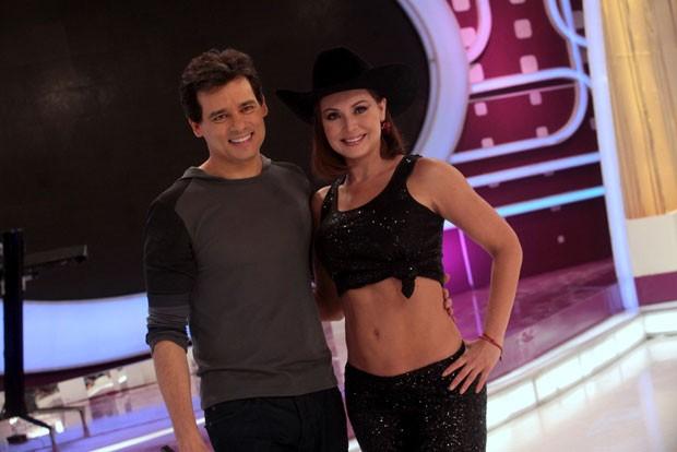 Gaby Spanic e Celso Portiolli (Foto: Leo Franco/ AgNews)